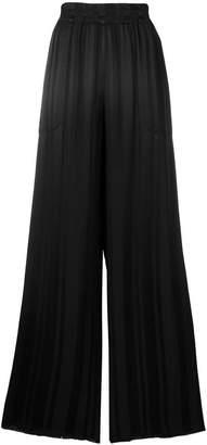 Raquel Allegra pleated palazzo trousers