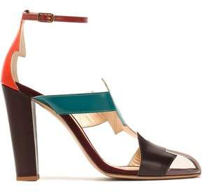 Camilla Elphick Pcv-Paneled Color-Block Leather Sandals