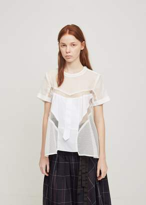 Sacai Shirting Top White