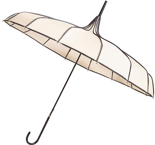 White & Black Pagoda Walking Umbrella