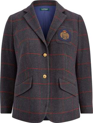 Ralph Lauren Bullion-Patch Tweed Blazer