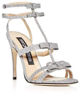 Sergio Rossi Women's Glitter Bow High-Heel Sandals
