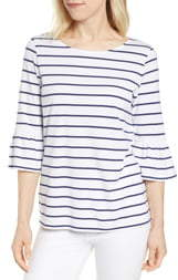 Tommy Bahama One Wave or Another Stripe Ruffle Cuff Top