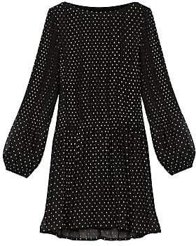 Maje Women's Rockito Pleated Polka Dot Mini Dress