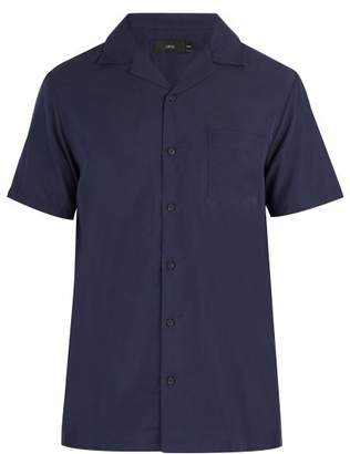 Onia Vacation Short Sleeved Shirt - Mens - Navy