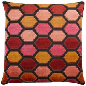 The Piper Collection Evie 22x22 Velvet Pillow - Sunset