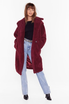 Nasty Gal Womens Warm Love Faux Fur Coat - Red - S