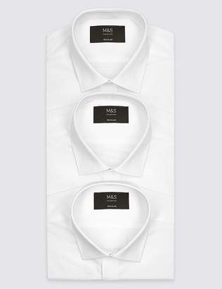 Marks and Spencer 3 Pack Short Sleeve Regular Fit Shirts