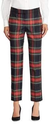 Lauren Ralph Lauren Tartan Stripe Skinny Pants>