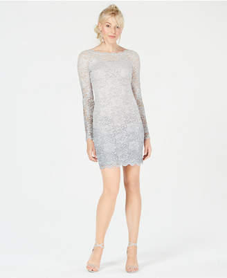 Sequin Hearts Juniors' Glitter-Embellished Lace Dress