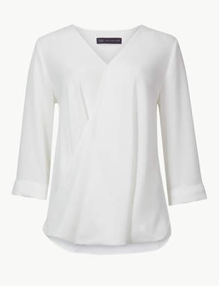 M&S Collection Maternity V-Neck 3/4 Sleeve Blouse