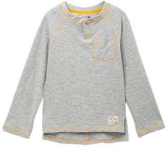 Joe's Jeans Long Sleeve Slub Jersey Pocket Henley Tee (Little Boys)