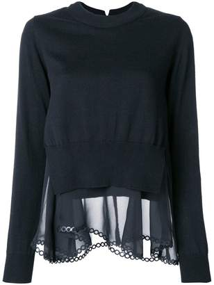 Comme des Garcons layered asymmetric pullover