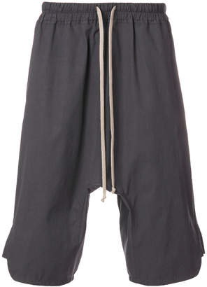 Rick Owens dropped crotch track shorts
