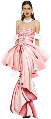 Trompe L'oeil Printed Gazar Bustier Gown $2,895 thestylecure.com