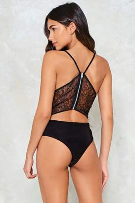 Nasty Gal Back Down Lace Bodysuit