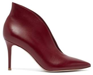Gianvito Rossi Vania 85 Leather Ankle Boots - Womens - Burgundy