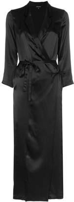Ann Demeulemeester silk midi wrap dress