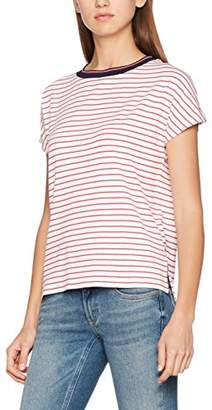 Tommy Jeans Women's Stripe Knit Long Sleeve Crew Neck T-Shirt,8 (Manufacturer Size:XS)