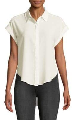 Jones New York Short-Sleeve High-Low Shirt