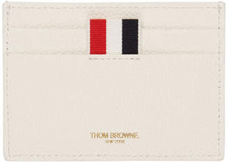 Thom Browne White Buffalo Check Single Card Holder