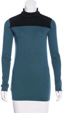 prada Prada Colorblock Turtleneck Sweater