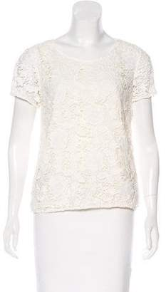 Madewell Lace Short Sleeve Top
