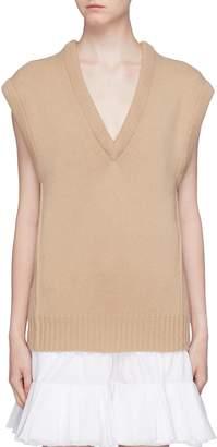 Chloé V-neck cashmere wool knit vest