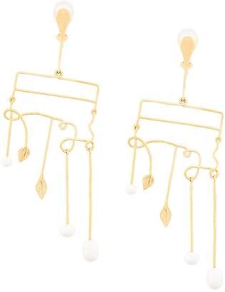 Sirocco clip-on earrings