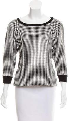 L'Agence Woven Crew Neck Sweater