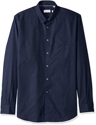 Lacoste Men's Long Sleeve with Pocket Mini Pique Regular Fit Woven Shirt