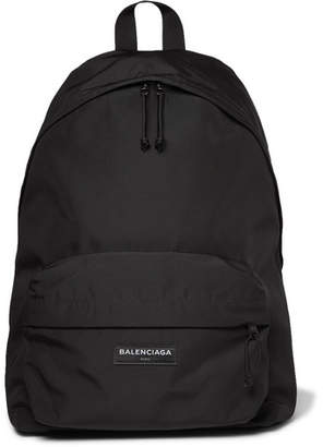 Balenciaga Explorer Canvas Backpack - Black