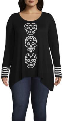 Unity World Wear Skull Pullover Sweater - Plus
