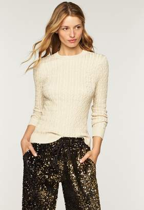 Milly Shimmer Cable Pullover