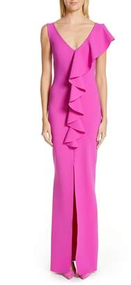 Chiara Boni Boudicea Ruffle Evening Dress