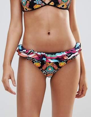 Vero Moda Frill Printed Bikini Bottoms