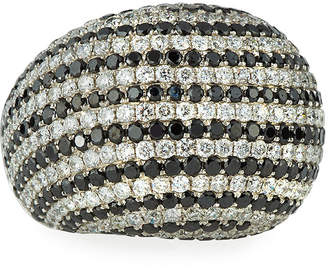 Black Diamond Diana M. Jewels 18k White & Dome Ring, 7.21tcw, Size 6