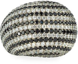 Black Diamond Diana M. Jewels 18k White & Dome Ring, 7.21tcw, Size 6