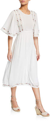 Knot Sisters Embroidered Braided Tassel Dress