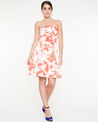 Le Château Floral Fit and Flare Tube Dress