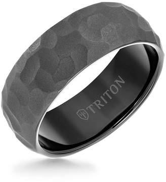 Triton 8MM Tungsten Carbide Hammered Ring