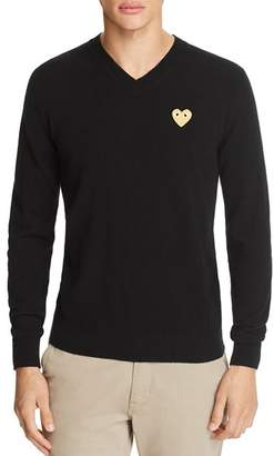 Comme des Garcons Gold Heart V-Neck Sweater