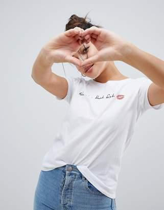 Only First Kiss Print T-Shirt