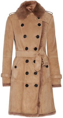 Burberry - Toddingwall Shearling Trench Coat - Camel $3,295 thestylecure.com