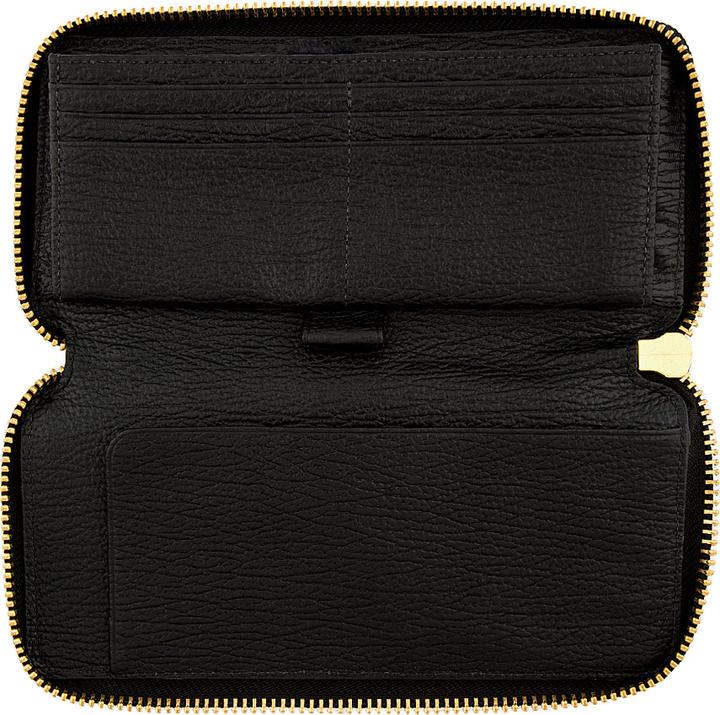 3.1 Phillip Lim Black Textured Leather Pashli Wallet