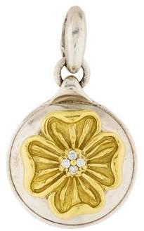 Slane Diamond Flower Pendant