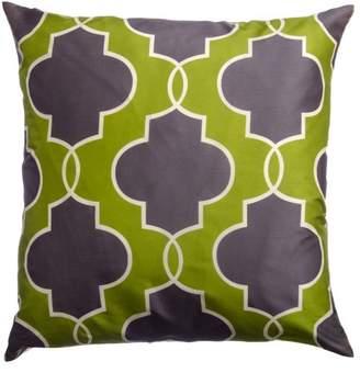 "Softline Lancelot Chartreuse 20"" x 20"" Feather Down Decorative Pillow"