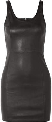 Alexander Wang Stretch-leather Mini Dress - Black