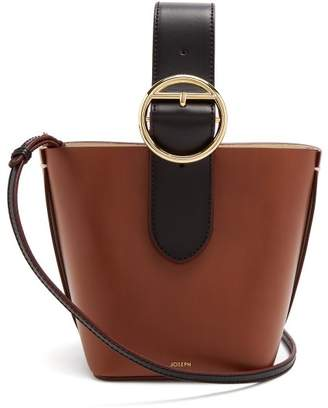 Joseph Sevres Mini Buckle Handle Leather Bag - Womens - Black Tan