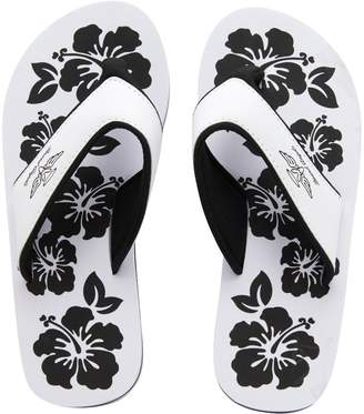 Board Angels Womens EVA Toe Post Sandals White/Black